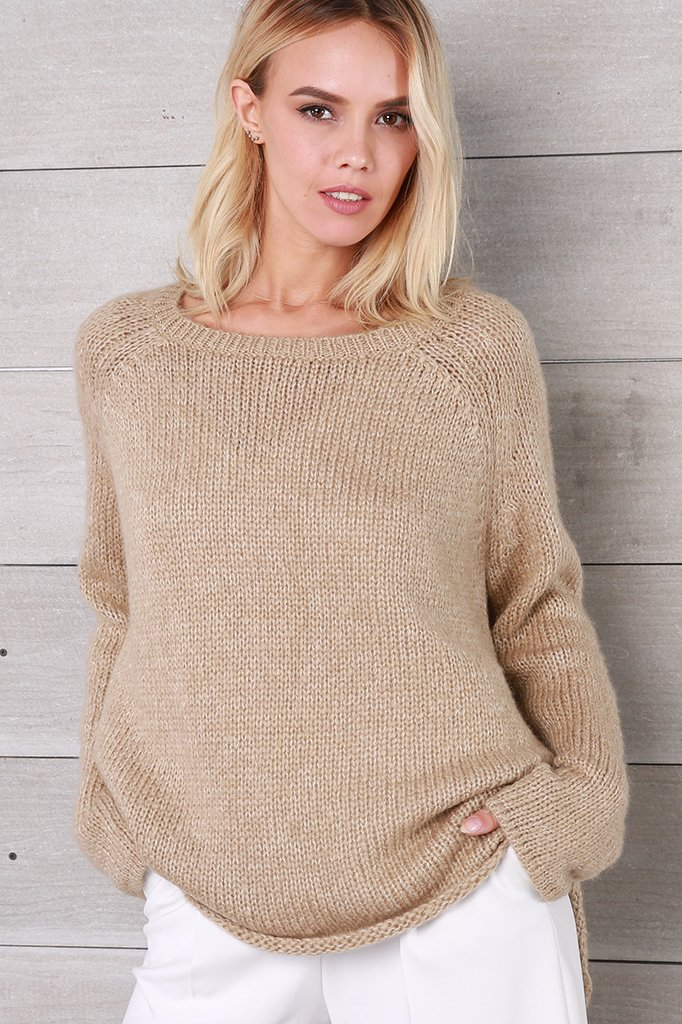 Women's Melange Boyfriend Sweater's | Wooden Ships Knits