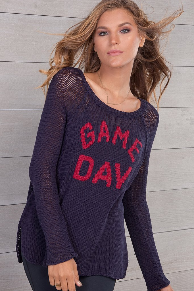 Women's Game Day Raglan Cotton  Sweater's | Wooden Ships Knits