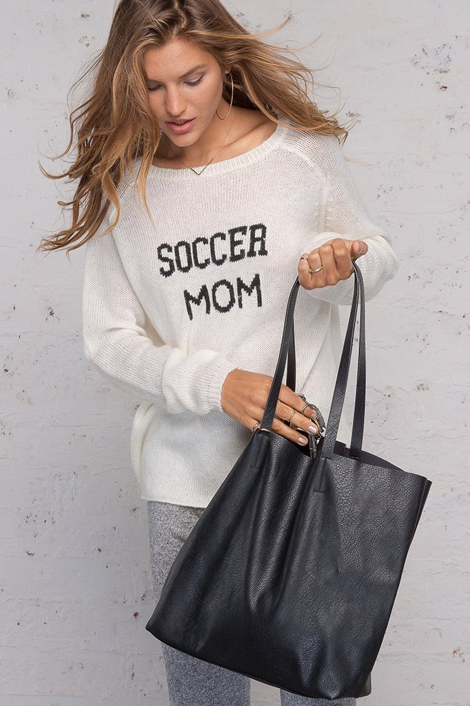 Women's Soccer Mom Crewneck  Sweater's | Wooden Ships Knits