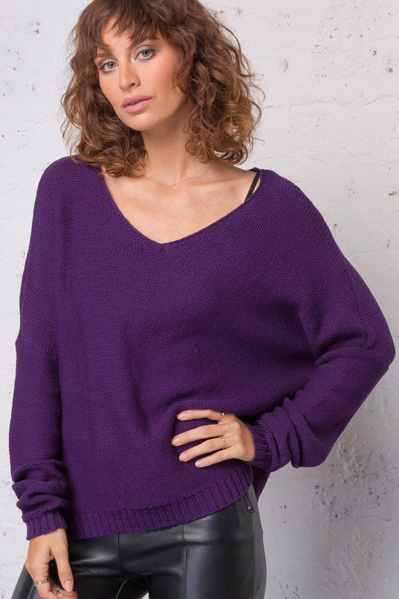 Women's Ansel V-Neck Cotton  Sweater | Wooden Ships Knits