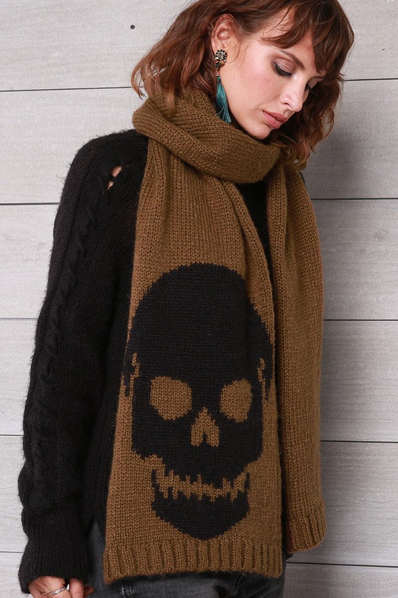 Women's Big Skull Scarf | Wooden Ships Knits