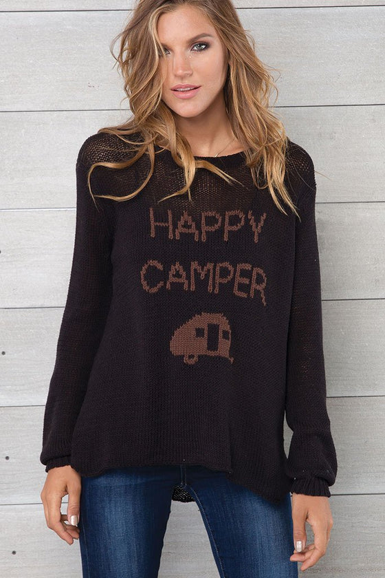 Women's Happy Camper Crewneck Sweater's | Wooden Ships Knits