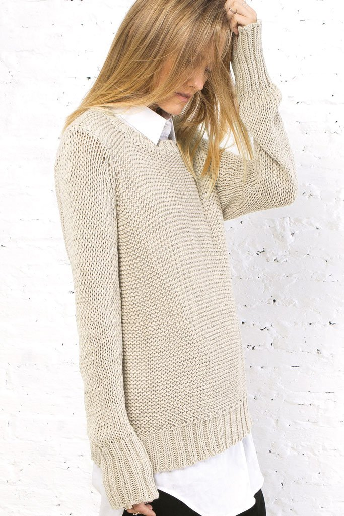 Women's Huckleberry Crewneck Cotton Sweater | Wooden Ships Knits