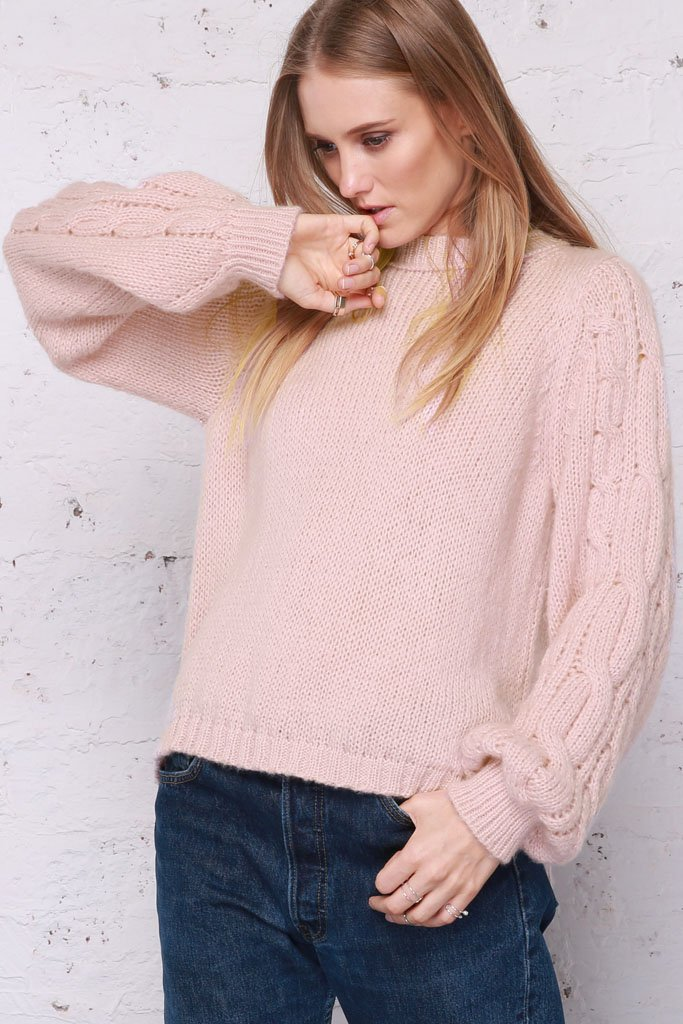 Women's Louisa Cable Crewneck Sweater's | Wooden Ships Knits