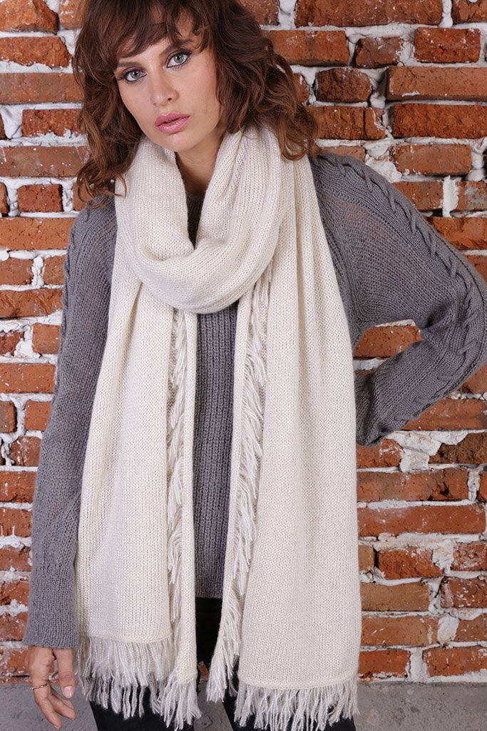 Women's Montreal Fringe Wrap | Wooden Ships Knits