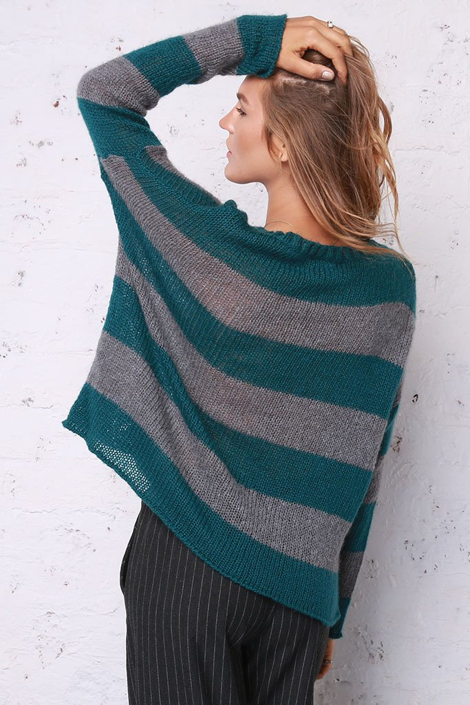 Women's Moss Stripe Top Sweater's | Wooden Ships Knits