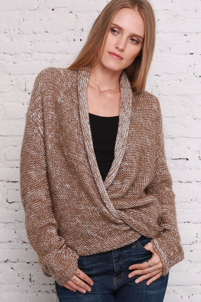 Women's Rosemary Wrap Lightweight Sweater | Wooden Ships Knits