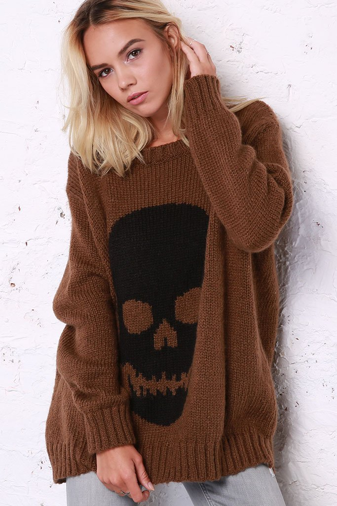 Women's Skull Crewneck Sweater's | Wooden Ships Knits