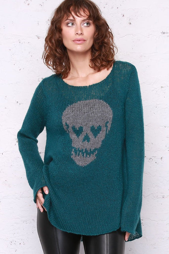 Women's Skull Eyes Crew Sweater's | Wooden Ships Knits