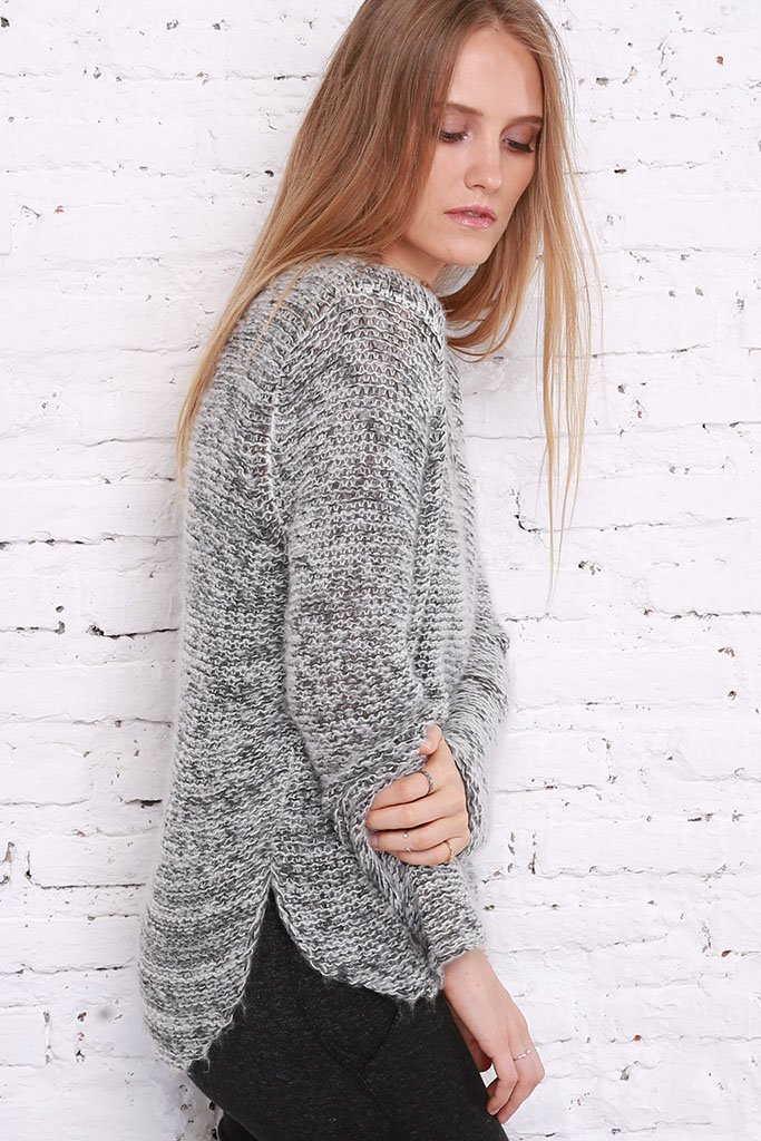 Women's Brooke Marl V-Neck Sweater's| Wooden Ships Knits