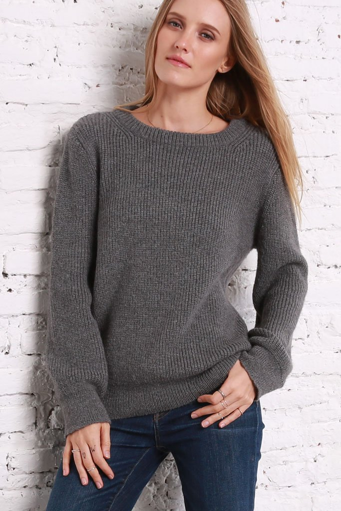 *SALE* Women's Caroline Rib Solid Sweater's | Wooden Ships Knits