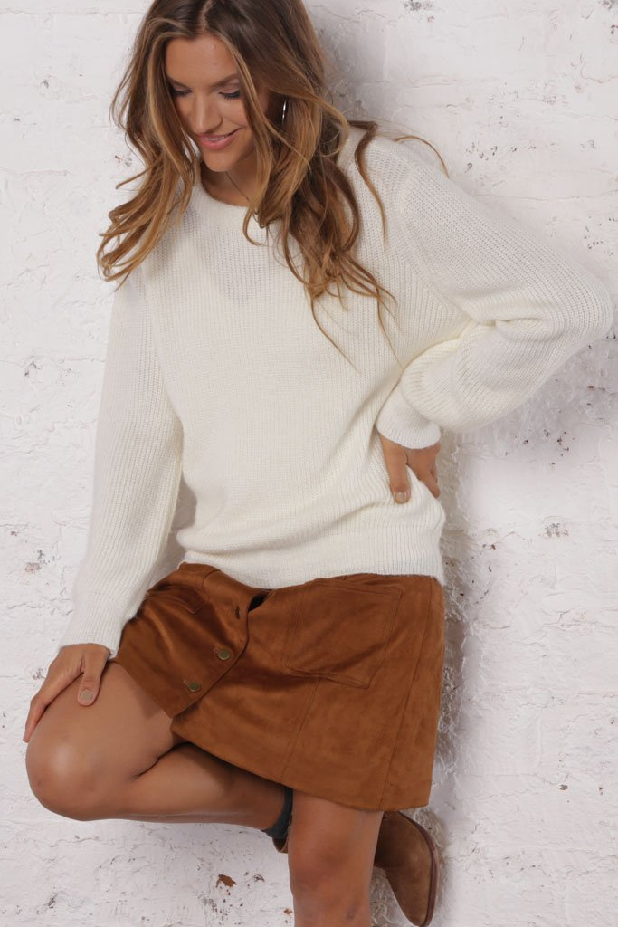 Women's Caroline Rib Solid Crewneck Sweater's | Wooden Ships Knits