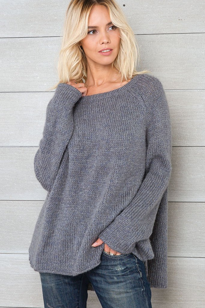 *SALE* Women's Melange Boyfriend Raglan Sweater's | Wooden Ships Knits