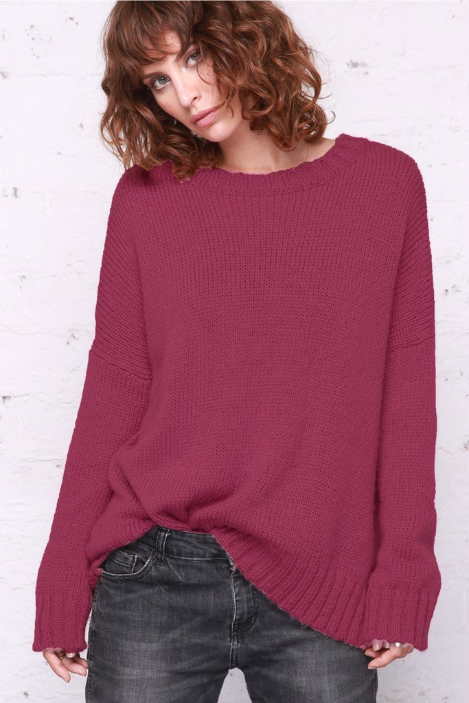 Women's Tomboy Slouchy Crewneck Pullover Sweater | Wooden Ships Knits