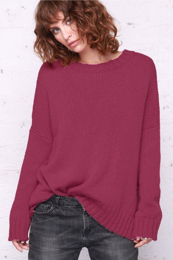 Women's Tomboy Slouchy Crew Chunky Sweater's | Wooden Ships Knits