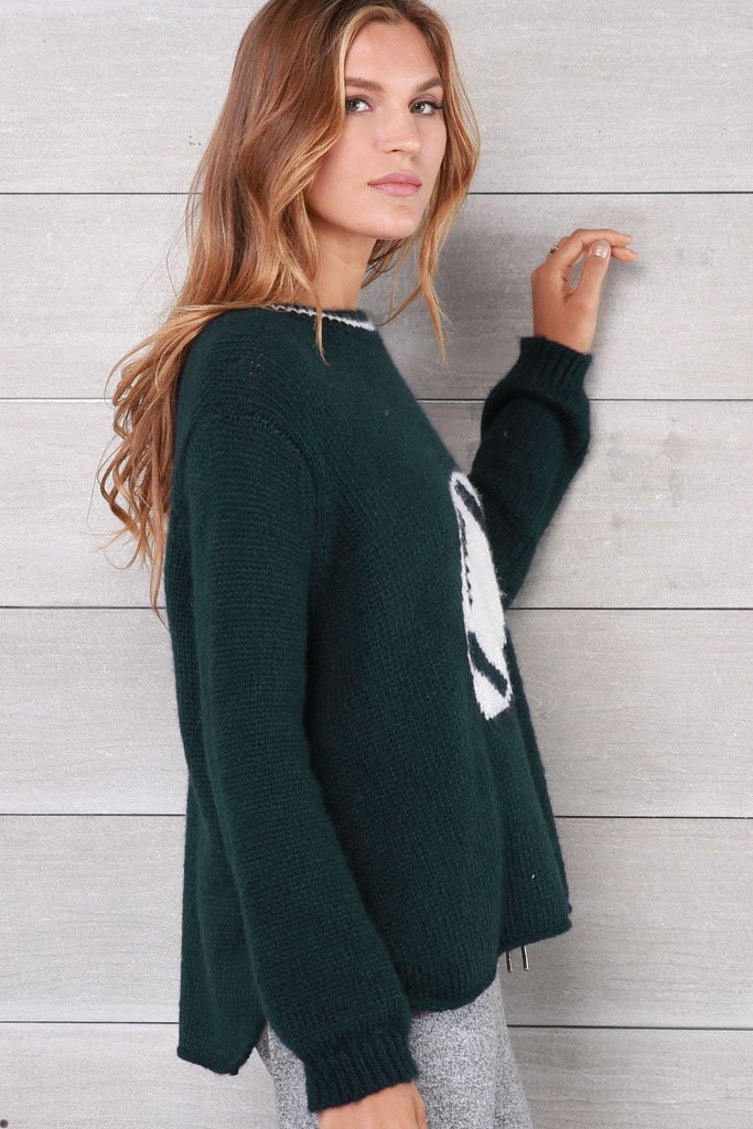 Women's Football Crewneck Lightweight Sweater | Wooden Ships Knits