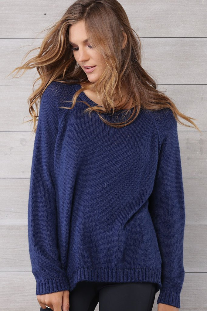 Women's Parker Top Solid Lightweight Sweater | Wooden Ships Knits