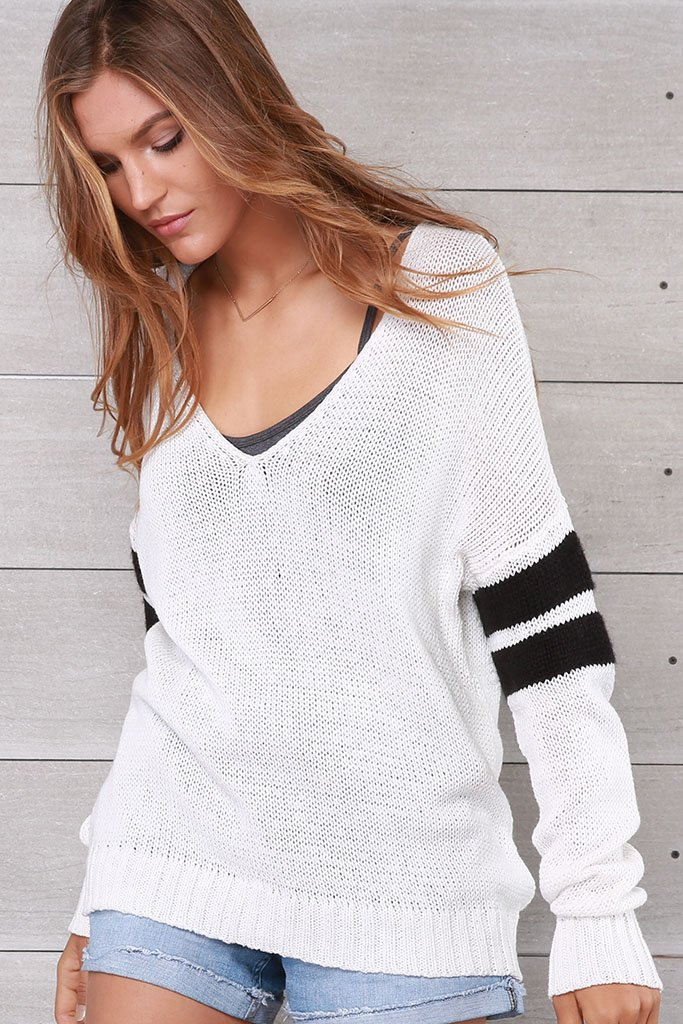 Women's Taylor V-Neck Cotton Sweater | Wooden Ships Knits
