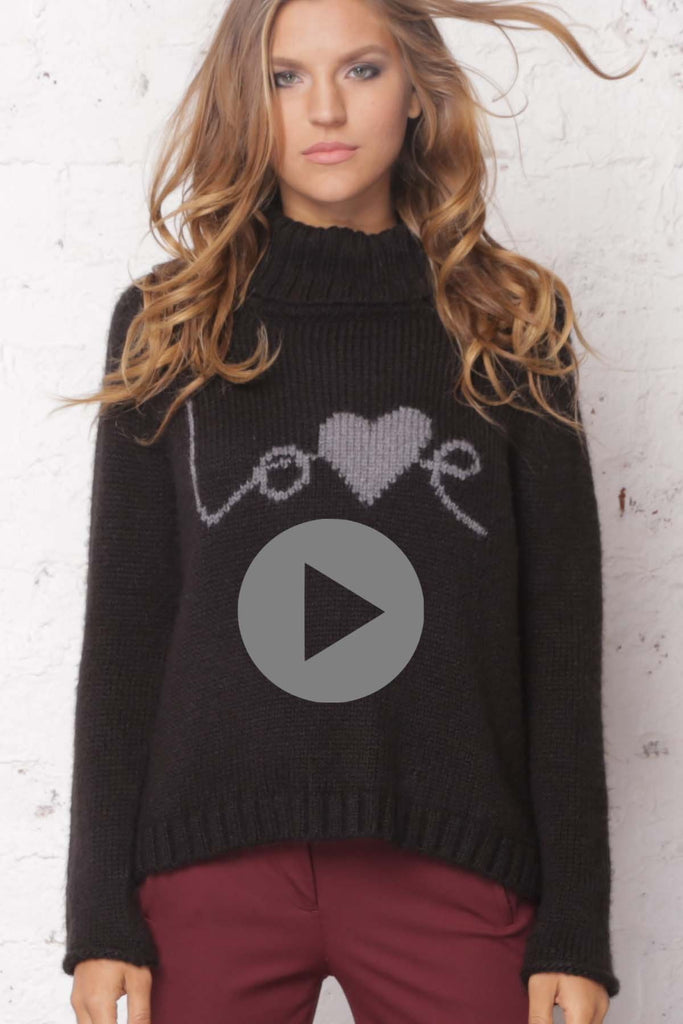 Women's Love T-neck Sweater's | Wooden Ships Knits