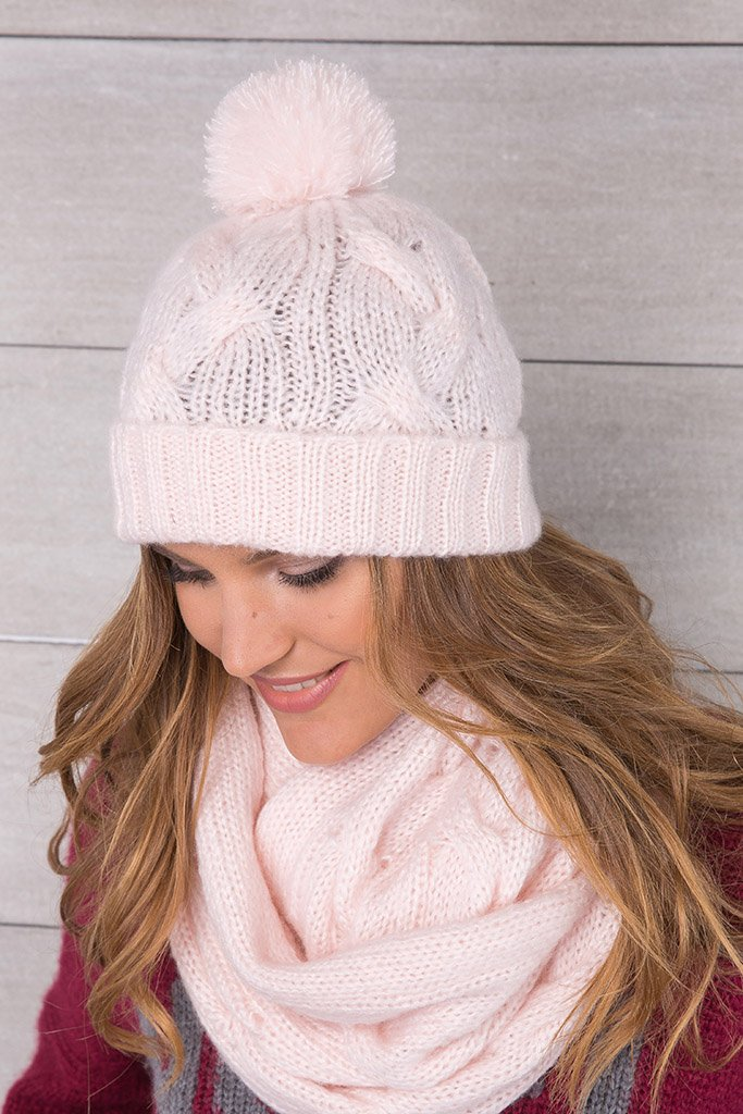 Women's Seafarer Cable Pom Pom Beanie Hat's| Wooden Ships Knits
