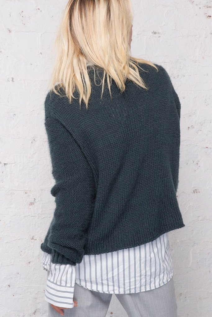 Women's Seafarer Cropped Cable Sweater's | Wooden Ships Knits