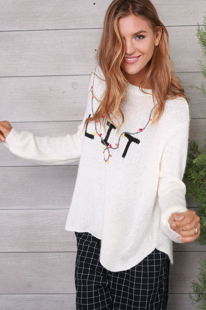 Women's Lit Crewneck Sweater's | Wooden Ships Knits