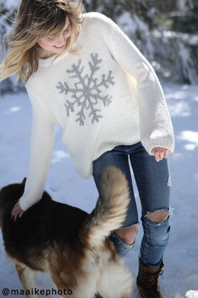 *SALE* Women's Snowflake Crewneck Sweater's | Wooden Ships Knits