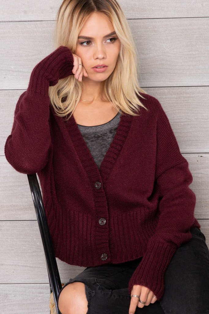Women's 3 Button Cardigan Lightweight Sweater | Wooden Ships Knits