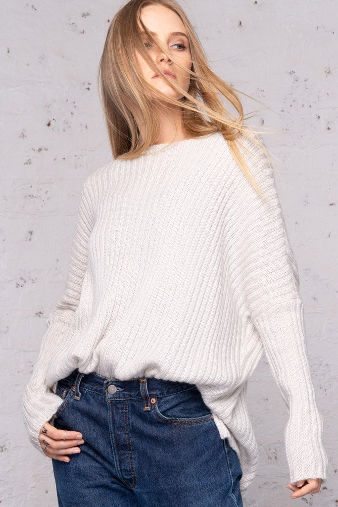 Women's Austen Rib Lightweight Sweater | Wooden Ships Knits