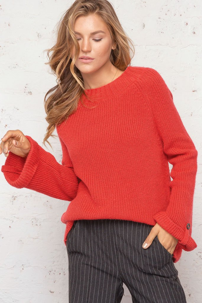 Women's Bo Cuffed Raglan Lightweight Sweater | Wooden Ships Knits