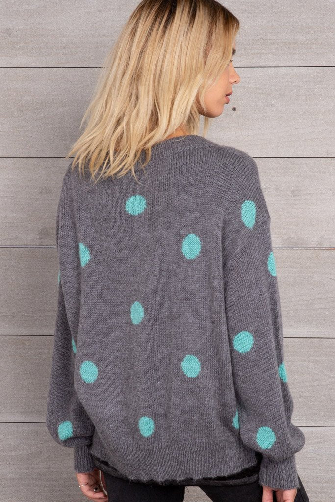 Women's Dot Crewneck Lightweight Sweater | Wooden Ships Knits