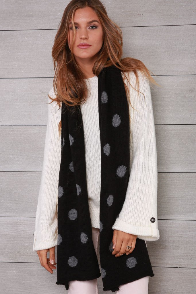 Women's Dot Scarf Sweater | Wooden Ships Knits