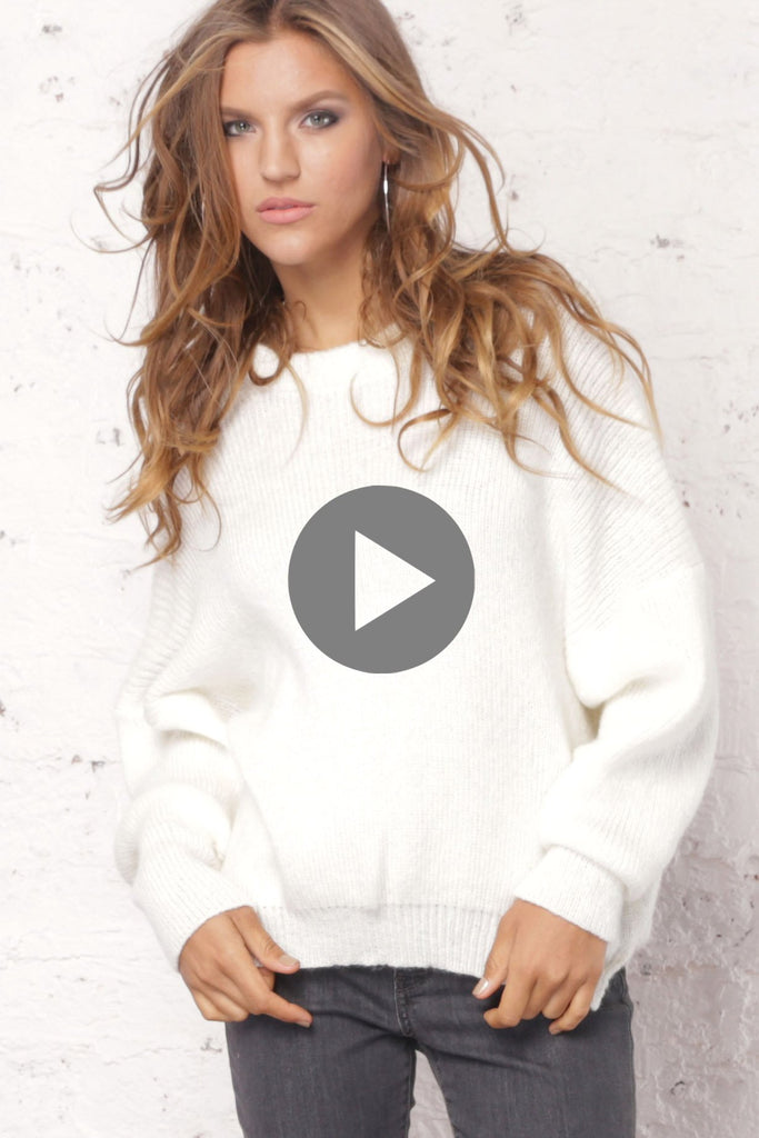 Women's Hanna Crewneck Lightweight Sweater | Wooden Ships Knits