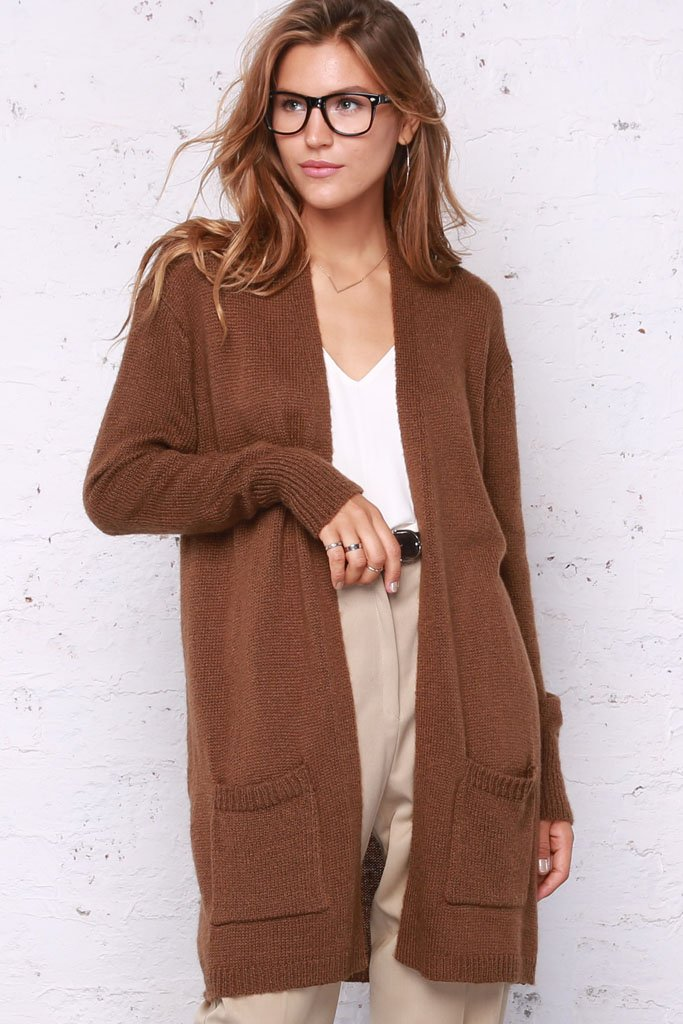 Women's Olivia Long Pocket Cardigan Lightweight Sweater | Wooden Ships Knits