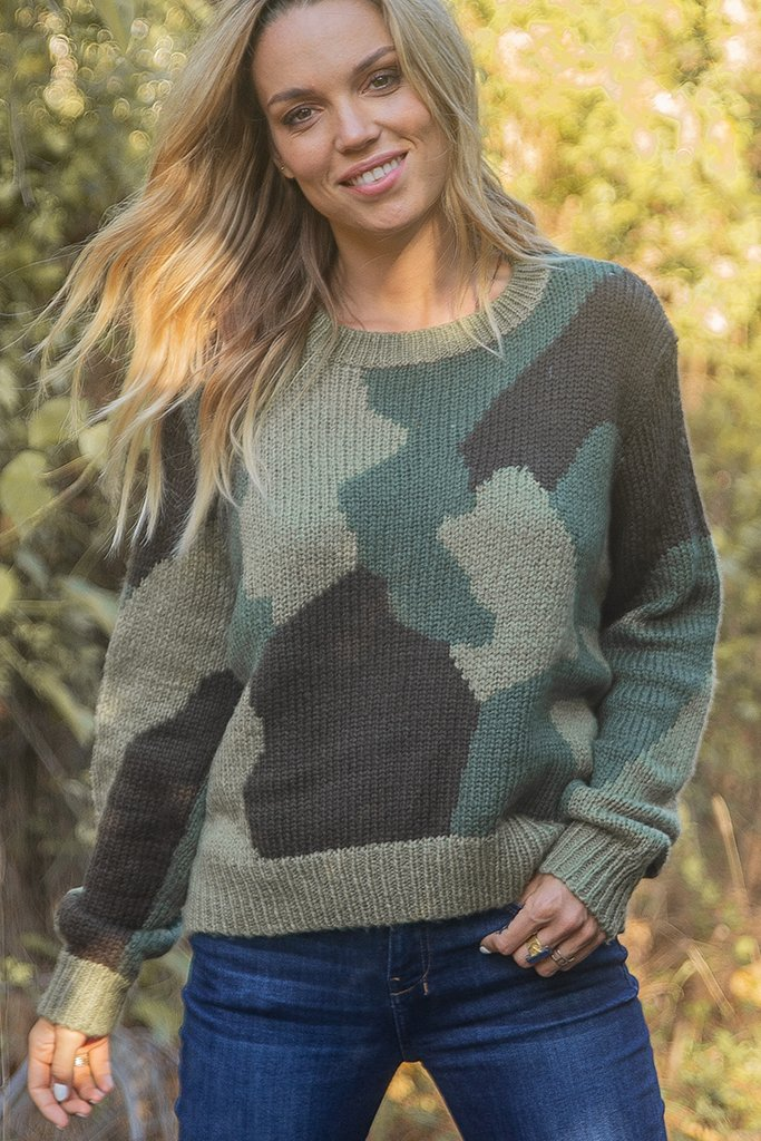 Women's Camo Pullover Sweater's | Wooden Ships Knits
