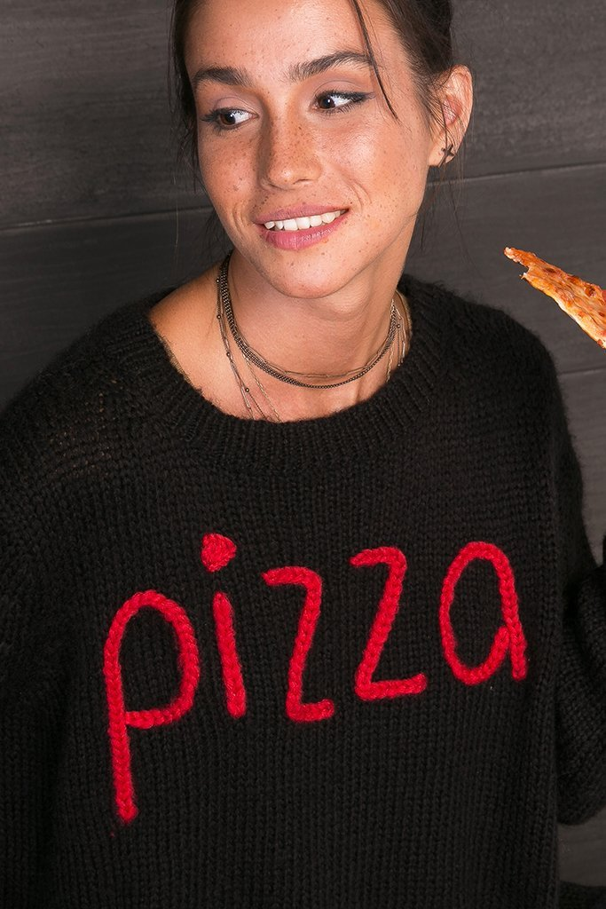 Women's Pizza Crew Sweater's | Wooden Ships Knits