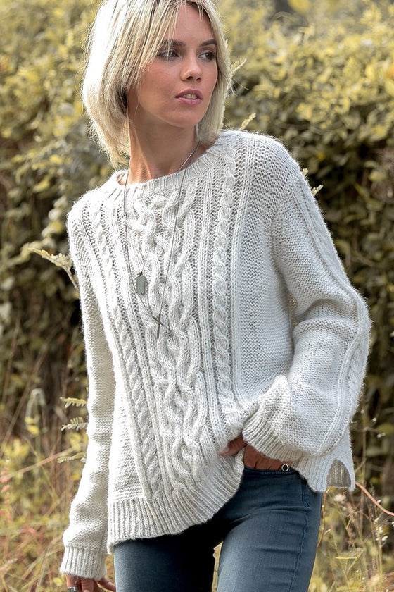 Women's Cozy Cable Pullover Sweater's | Wooden Ships Knits