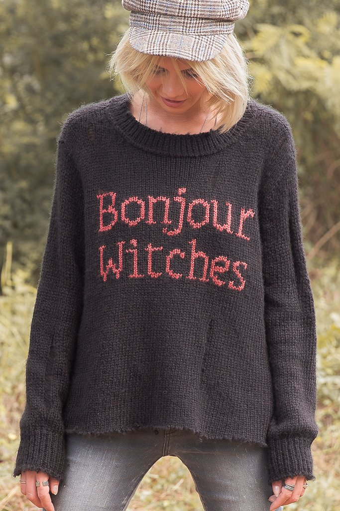 Women's Bonjour Witches Slouchy Pullover  Sweater's | Wooden Ships Knits