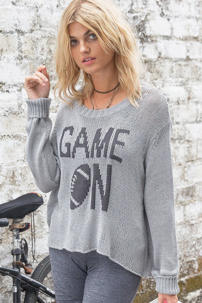 Women's Game On Crew Cotton  Sweater's | Wooden Ships Knits