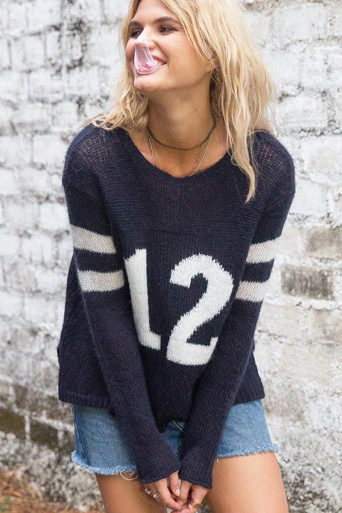 Women's Number Jersey Crewneck Sweater's | Wooden Ships Knits