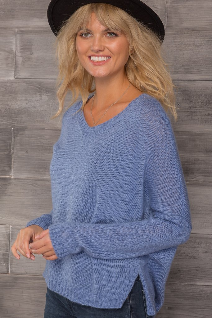 Women's Ansel V-Neck Lightweight Sweater's | Wooden Ships Knits