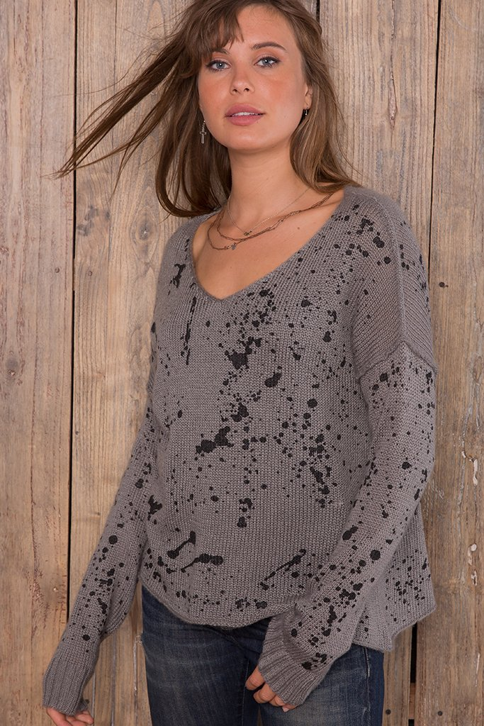 Women's Splatter V   Sweater's | Wooden Ships Knits