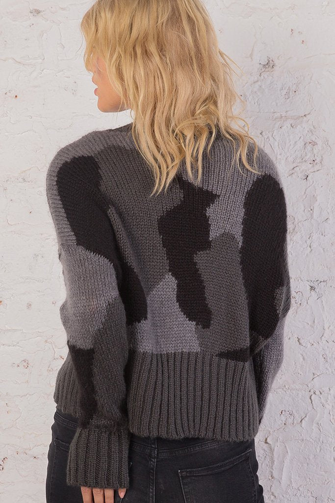 Women's Camo Cardi  Sweater's | Wooden Ships Knits