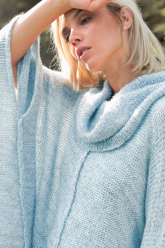 Women's Hopper Melange Poncho Sweater's | Wooden Ships Knits