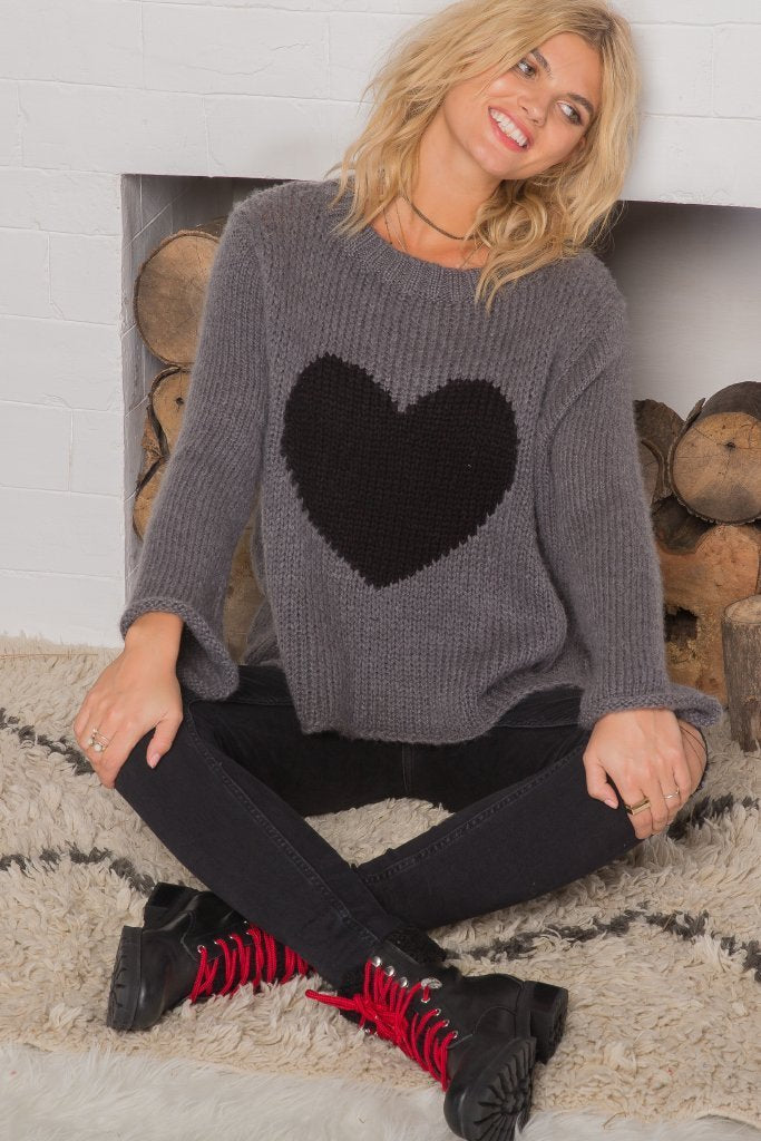 Women's Big Heart Top Sweater's | Wooden Ships Knits