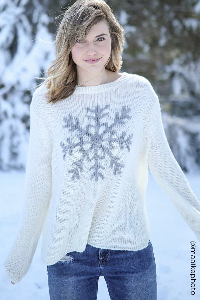 Women's Snowflake Crewneck Sweater's | Wooden Ships Knits