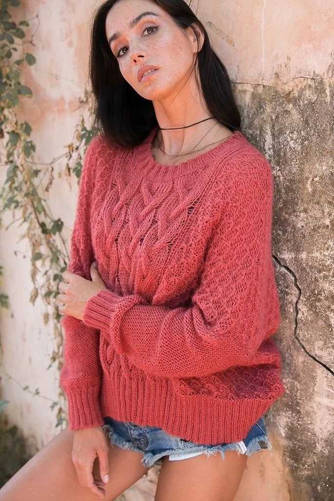 Women's Autumn Cable Crew  Sweater's | Wooden Ships Knits