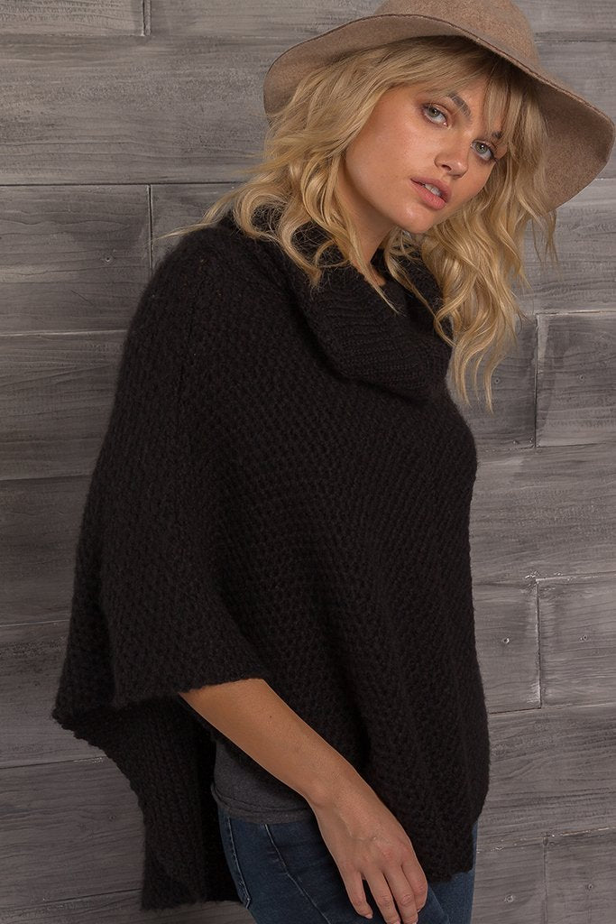 Women's Honeycomb Poncho Sweater's | Wooden Ships Knits