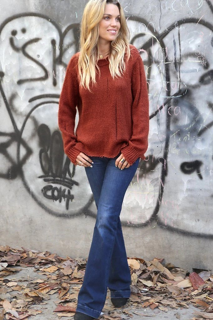 Women's Oliver Distressed Crewneck Sweater's | Wooden Ships Knits