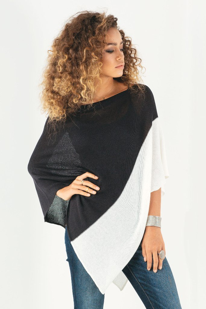 COLORBLOCK PONCHO COTTON MERCER - Wooden Ships